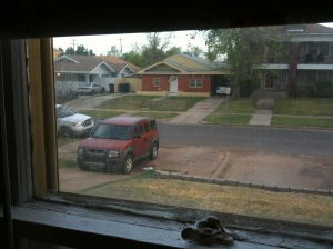 car outside of my window