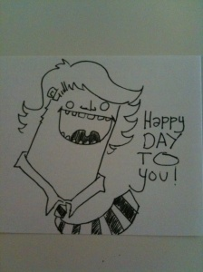 happy day to you drawing